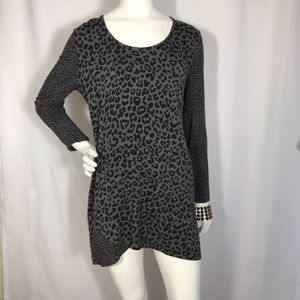 NWOT leopard print tunic for lounging or work.